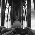Tunnel of Light - Black and White by Larry Marshall