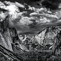 Tunnel View #1 Black And White by Jack Peterson