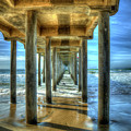 Tunnel Vision Huntington Beach Pier California Surfing Los Angeles Collection Art by Reid Callaway