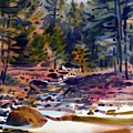 Tuolumne River In October by Donald Maier