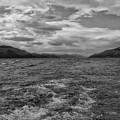Turbulent Loch Ness In Monochrome 2 by Joan-Violet Stretch