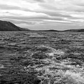 Turbulent Loch Ness In Monochrome by Joan-Violet Stretch