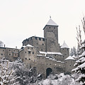 Tures Castle In The Snow by Nicola Simeoni