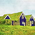 Turf Huts In Skaftafell by Frans Blok
