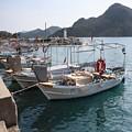 Turkish Fishing Boats Moored At Bozburun by Tracey Harrington-Simpson