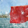 Turkish Flag by Brandon Bourdages