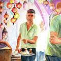 Turkish Tea At Istanbul Grand Bazaar by Carlin Blahnik CarlinArtWatercolor
