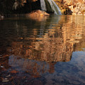 Turner Falls Autumn Reflections by Iris Greenwell