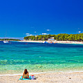 Turquoise Adriatic Beach In Primosten by Brch Photography