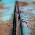 Turquoise And Rust Abstract by Ashley M Conger