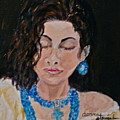 Turquoise Lady 1 by Donna Steward