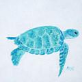 Turquoise Marine Turtle by Jan Matson
