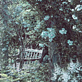 Turquoise Muted Garden Respite by Doug Kreuger