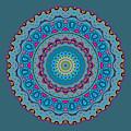 Turquoise Necklace Mandala by Joy McKenzie