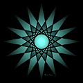 Turquoise Ombre Deep Gaze Mandala by Heather Schaefer