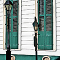 Turquoise Shutters by Frances Hattier