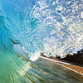 Turquoise Wave Tube by MakenaStockMedia