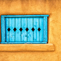 Turquoise Window Shutter by Jerry Fornarotto