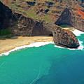 Turtle Head Sea Cave Napali Coast by Frank Wilson
