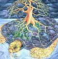 Turtle Tree Mandala by Marcia Snedecor