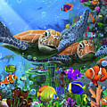 Turtles Of The Deep by MGL Meiklejohn Graphics Licensing