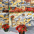 Tuscan Courtyard I by Arlene  Wright-Correll