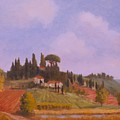 Tuscan Hillside by David Olander