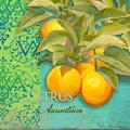 Tuscan Orange Tree - Citrus Aurantium Damask by Audrey Jeanne Roberts