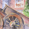 Tuscan Ox Cart by Marsha Karle