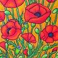 Tuscan Poppies - Crop 2 by Lisa  Lorenz