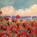 Tuscan Riviera Red Poppies by Sarah  Kadlic
