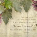 Tuscan Vineyard - Rustic Wood Fence Scripture by Audrey Jeanne Roberts