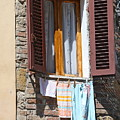 Tuscan Window And Laundry by Nadine Rippelmeyer