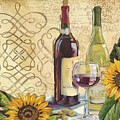 Tuscan Wine And Sunflowers by Paul Brent