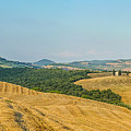Tuscany Landscape With Rolling Hills At Sunset, Val D'orcia, Ita by JR Photography