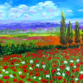 Tuscany Poppies Field by Inna Montano