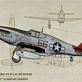 Tuskegee P-51b By Request - Profile Art by Tommy Anderson