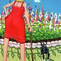 Tuxedo Cat - Edens Garden by Rebecca Korpita