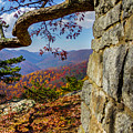 Twenty Minute Cliff Blue Ridge Parkway I by Karen Jorstad