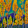 Twilight Aspens by Cathy Carey