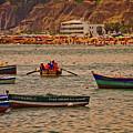 Twilight At The Beach, Miraflores, Peru by Mary Machare