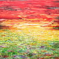 Twilight Bounds Softly Forth On The Wildflowers by Kume Bryant