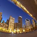 Twilight Chicago Skyline  by Sven Brogren