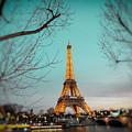 Eiffel Tower At Twilight  by Lynn Langmade
