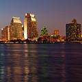 Twilight On San Diego Harbor by Sandra Bronstein