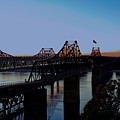 Twilight On The Mississippi - Vicksburg Bridges by Barry Jones