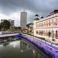 Twilight Over The Klang River In Kuala Lumpur In Malaysia Capita by Didier Marti