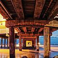 Twilight Panorama Of Galveston Fishing Pier - Texas Gulf Coast by Silvio Ligutti