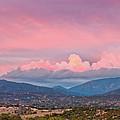 Twilight Panorama Of Sangre De Cristo Mountains And Santa Fe - New Mexico Land Of Enchantment by Silvio Ligutti