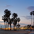 Twilight Panorama Of Santa Monica Pier And Oceanfront Walk - Los Angeles California by Silvio Ligutti